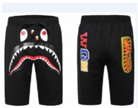 Wholesale Beach Birds - Summer Mens Sportswear beach short Pants Jogger causel Loose Crewneck Bird OVO Drake Black Hip Hop stusay Men Shark mouth print short pants