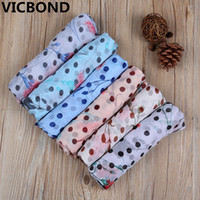 Wholesale Bali Dot - 2017 New Bali yarn dots flower lady scarf simple printing anti warm sai Keep warm Muslim bandana multifunctional hijab 10pcs lot
