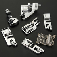 Wholesale Silk Embroidered Pictures - 32 PCS Domestic Sewing Machine Braiding Blind Stitch Darning Presser Foot Feet Kit Set With Box Snap On For Brother Singer Janom