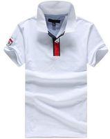 comprar polo blanco al por mayor-Value Buy! 2017 American Style Summer Men Casual Polo Cotton Mens Classic Polo Shirts Solid Tops Blanco envío gratis