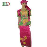 Wholesale Children Dressed Traditional Clothing - (Free shipping) New fashion African embroidery print women is rich EB A child dress traditional clothing gel Eda is kid Res SM2528