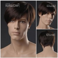 Wholesale Nawomi Wigs - Free shipping Hot Selling Fashion Discount NAWOMI Brands wigs anime men short with oblique bangs Straight wigs