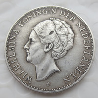 Wholesale Netherlands Gifts - 1938.Netherlands, Wilhelmina, 2 1 2 Gulden Silver Copy Coins Brass Craft Ornaments replica coins home decoration accessories