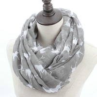 Wholesale red loop scarf - Wholesale- Fashion Woman Solid Horse Print Loop Shawl Women Winter Stripes Ring Scarves Female Autumn Horses Animal Infinity Scarf