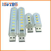 Wholesale Candles Small Night Lamp - 3Leds or 8leds 5730 Mini led USB Lamp 30mm or 100mm portable Lighting Computer Small Night Light Free shipping