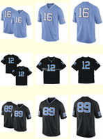 Wholesale Drop Shi - Men's Women Youth Kids North Carolina Tar Heels Personalized Customized NCAA jersey Black Blue Any Name Any Number Top Quality Drop Shi