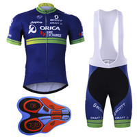 Wholesale Bicycle Wear Orica - 2017 Orica New Cycling Jerseys bib shorts set Bicycle Breathable sport wear cycling clothes Bicycle Clothing Lycra summer MTB Bike