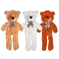 Wholesale Three Teddies Gift - 170cm-180cm three colors big teddy bear skin coat plush toys stuffed toy baby toy birthday gifts Christmas gifts