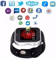 Wholesale Cell Phone Mobile Wrist Watch - GW05 Smartwatches 1.54inch IPS Smart Watch Bluetooth 4.0 Smart Watch For Android 4.4 Cell Phone Intelligent Mobile Phone Watch