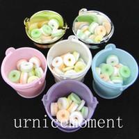 Wholesale Decorative Buckets Wedding - 8 Colors--24pcs lot individuation Mini colorized plastic bucket candy box Wedding Supplies gift boxes decorative buckets ..