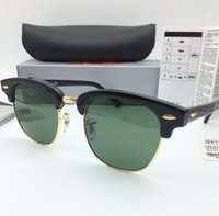 Wholesale Sun Glasses Mix - Brand Designer Sunglasses High Quality Metal Hinge Sunglasses Men Glasses Women Sun glasses UV400 51mm and 49mm Unisex With case Box