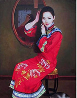 Wholesale Nude Art Oils Women - Frameless Hand Painted Newly Classical Stylish Chinese Woman Painting Beautiful Wall Decor Art Excellent Quality Finely Processed
