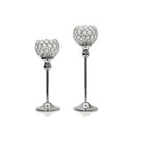 supports en métal pour verre achat en gros de-Bougeoirs en cristal de verre 12