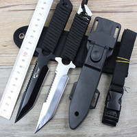 Hot Sale USA Legging Diving Couteau droit Couteau fixe Survival Knife 420C Stainless Steel Outdoor Camping Pocket Tactical Tools
