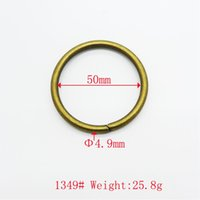 Wholesale Large Round Metal Ring - Vintage bronze rings fancy round women bag ring large metal rings accessories for bags hardware accessories