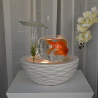cermica fuente de agua afortunada feng shui ornamento interior creativo de aire fish tank inicio