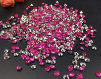 10000pcs 4 mm fucsia acrílico de diamantes confeti boda tabla de la mesa dispersa decoración de cristal