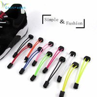 Wholesale Hotels Locks - Sports Fitness Lock lace 6 colors a pair Of Locking Shoe Laces Elastic Sneaker Shoelaces Shoestrings Running Jogging Triathlon