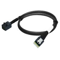 50cm Slim Line SAS 4.0 SFF-8654 4i 38pin Host per HD Mini SAS 4i SFF-8643 36pin Target Cable