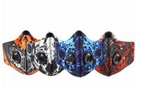 máscaras respiráveis venda por atacado-Moda Ciclismo Poluição Do Ar Máscara Facial Homens Esportes Filtros de Carbono Respirável Poeira de Bicicleta Smog Smog Máscara de Meio Neoprene Máscara de Rosto PM2