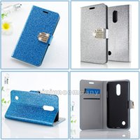 Wholesale bling style wallets for sale - Group buy For LG Tribute HD X STYLE ls676 k200sd X POWER ZTE Grand X4 Z956 Wallet case Glitter Bling Flip PU Leather Diamond Rhinestone