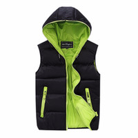 Wholesale Pad Jacks - Wholesale- Tengo New Fashion Casual Men Jacket Sleeveless Vest Winter Coat Male Hooded Cotton-Padded Men's Thickening Waistcoat Vest Jack
