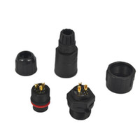 Wholesale Nylon Waterproof Connector - Nylon Shell 15A IP68 3Pin Waterproof Connector Adapter 3 Pole 3 pin Panel Mount Industrial Electrical Wire Connector Plug