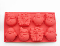 Wholesale Princess Molds - 8 hole snowman penguin princess cake molds chocolate molds candy mold bread molds baking mold kitchen bakeware oven mold free shipping