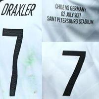 Wholesale Germany Wear - 2017 Final Match Worn Player Issue Germany Vs Chile Draxler Goretzka 02.07.2017 Soccer Patch Badge