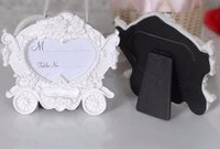 Wholesale Photo Frame Place - White pumpkin carriage photo frame place card holder The new European style wedding seats in return gift wa4031