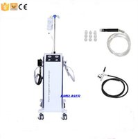 Wholesale Micro Peeling - New arrival! Vertiacl 3 in1 hydra facial water dermabrasion oxygen spray gun micro needle jet peel spa skin rejuvenation salon home use