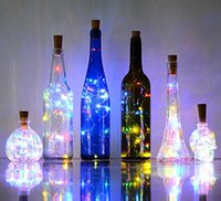 Wholesale christmas decoratio - Bottle Lights Cork Shape Mini String Lights Wine Bottle Fairy Strip Battery Operated Starry lights For DIY Christmas Wedding Party Decoratio