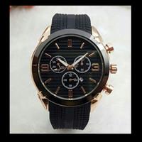 grandes relojes digitales al por mayor-Relogios masculinos 45 mm de alta calidad de marca superior relojes de oro hombres diseñador de moda de moda big bang de cuarzo fecha del día automático reloj maestro