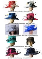 Fashion Big sinamay hats for church, Kentucky Derby, Mariage, fête, courses, vente en mix styles mélanger des couleurs