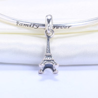 Wholesale Genuine Sterling Silver Eiffel Tower European Charms for Pandora Bracelet DIY Beads Accessories for Women Jewelry