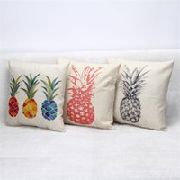 Wholesale 18x18 pillow cushion covers resale online - pillow cushion covers Without Pillow core x18 Inches Colorful Pineapple Throw Pillow Case Cover Sequins Car Decor
