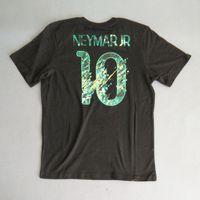 Wholesale Crest Shirt - #10 NEYMAR JR World Cup T-Shirt Short Sleeve Top,Brazil Sporting T-shirts ,Soccer Shirt, Core Crest Tee