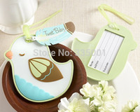 """Wholesale Tweet Bird - wedding party favor gift and gieaways for guests --""""Tweet Baby"""" Baby Bird Luggage Tag baby shower party presents favor 20pcs lot"""