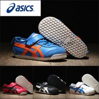 Wholesale Gold Flat Girl Shoe - 2017 Wholesale Asics OnitsukaTiger Children's Shoes C6B5Y-4209 Running Shoes Boys Girls Shoes Kids Original Sneakers Sports Boots