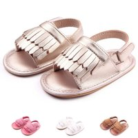 Wholesale Paisley Fabric Brown - New Fashion Baby Summer Shoes Solid Antislip Infants First Walkers Outdoor Toddlers Bebe Shoes