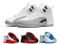 Wholesale q up - Gym Red 12 Women Basketabll Shoes Cheap High-Q French Blue Taxi Playoffs Grey Sports 12s XII Sneakers