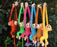 Wholesale Stuffed Dolls Monkey - Wholesale- 70cm long arm monkey from arm to tail plush toy colorful monkey curtains monkey stuffed animal doll for kids gifts style209kk