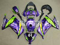 Wholesale Purple Ninja - New ABS Injection Fairing kits 100% fit For Kawasaki Ninja300 13 14 15 16 Ninja 300 EX300 2013 2014 2015 2016 purple green color+Tank cover