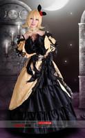 vocaloid weihnachten cosplay großhandel-2016 Anime Vocaloid gelb schwarz Cosplay Kleid Loro Rita Mädchen Outfit Halloween Kostüm für Frauen für Party / Weihnachten
