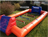 Wholesale Inflatable Field - giant outdoor human inflatable pool table football soccer pitch field court