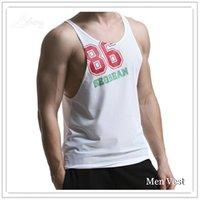 Wholesale Singlet Tshirts - Wholesale- Men Tank Top Singlets Stringers Sleeveless Man Top Tees Shirts Cotton Hip Hop Brand Tshirts Mens Man Gasp Tank Shirt Muscle
