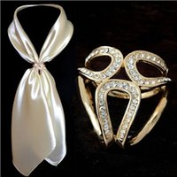 Wholesale Flower Holder Pin - 2017 Newst Gold Silver Flowers Scarf Buckle Wedding Brooch Christmas Pins Crystal Holder Silk Scarf Jewelry