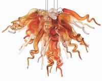 preço candelabro de lâmpada de cristal venda por atacado-Chegada nova Contemporânea Levou Candelabro de Cristal Lâmpadas Pequeno Preço Barato Estilo Antigo Mão Lustre De Vidro Soprado