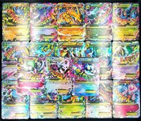 Wholesale Free Poker Flash - 100 set Flash card ALL MEGA 100pcs poke trainer energy cards GX EX Charizard Venusaur Blastoise For children Gift English French Card FREE S