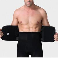 Wholesale corset belt abdomen - Men Belly Abdomen Waist Slimming Shaper Wrapper Belt Breathable Men's Waist Belly Shaper Belt Underwear Weight Loss Corset